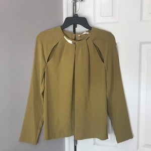 RACHEL ROY long sleeve cutout blouse